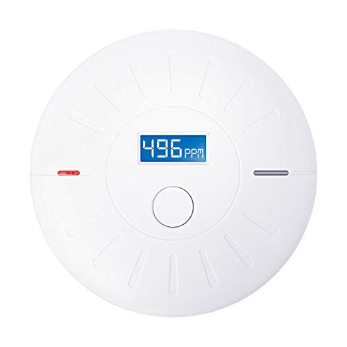 10 Year Battery (Not Hardwired) Combination Photoelectric Smoke Detector and Carbon Monoxide Detector Alarm with LCD Display