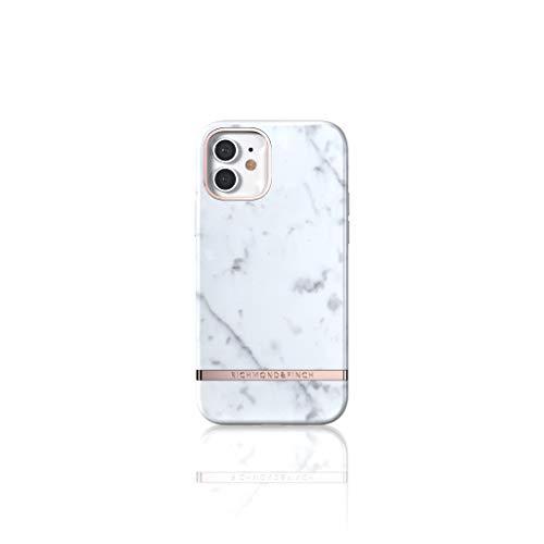 RICHMOND & FINCH Funda Teléfono Diseñada para iPhone 12 Funda, iPhone 12 Pro Funda, 6.1 Pulgada, Mármol Blanco Fundas Probadas contra Caídas, Bordes Elevados a Prueba De Golpes, Funda Protectora