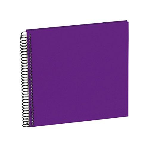 Semikolon (353042) Spiral Album Piccolino plum (lila) - Spiral-Fotoalbum mit 20 Seiten u. Efalin-Einband -Fotobuch mit cremeweißem Fotokarton