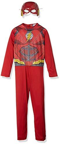 DC Disfraz de Flash superhroe para nios, infantil 5-7 aos (Rubie's 630860-M)
