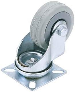 Draper 65473 75mm Diameter Swivel Plate Bevestiging Rubber Castor - S.W.L 70Kg