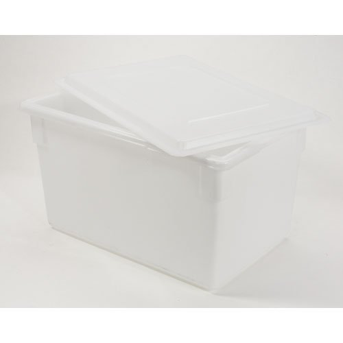 Rubbermaid RCP3501WHI Food/Tote Boxes 21.5gal 26w x 18d x 15h White -  Rubbermaid Commercial Products