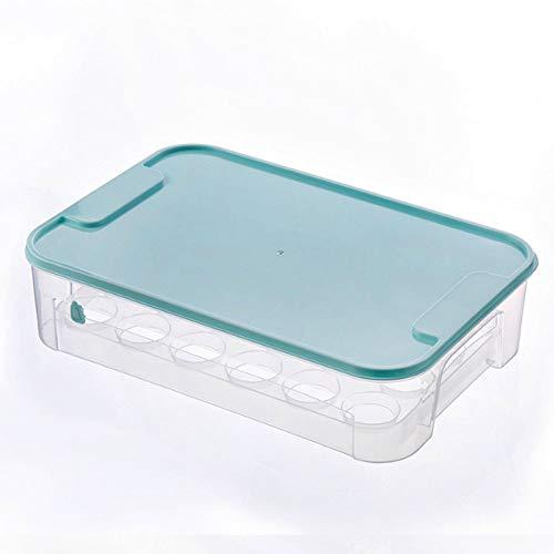 nuluxi Transparente Huevos Cajón Huevo Caja de Almacenamiento Plástico Huevo Contenedor con Tapa Frigorífico Apilable Caja Huevera Caja de Almacenamiento Práctica y Multifuncional para Refrigerador