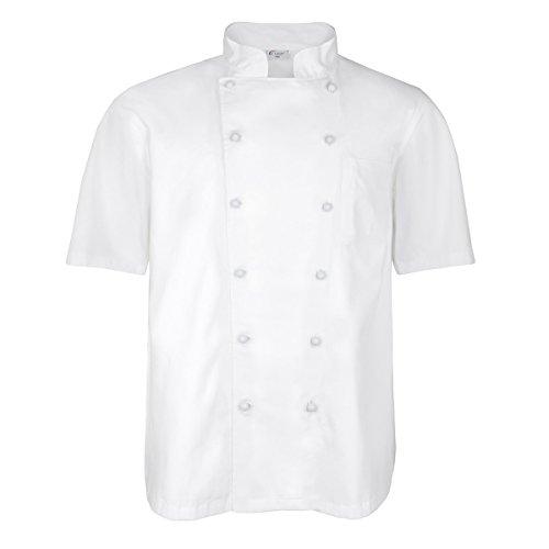 XXL M&S weiße Koch- und Bäckerjacke mit Kurzem Arm, XL Größe:5XL