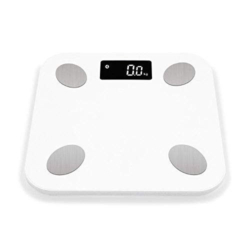 BINGFANG-W Balanza Escala Bluetooth Cuerpo, Inteligente baño Digital Báscula de Suelo, mediciones de Alta precisión, 180Kg, Blanca Cocina