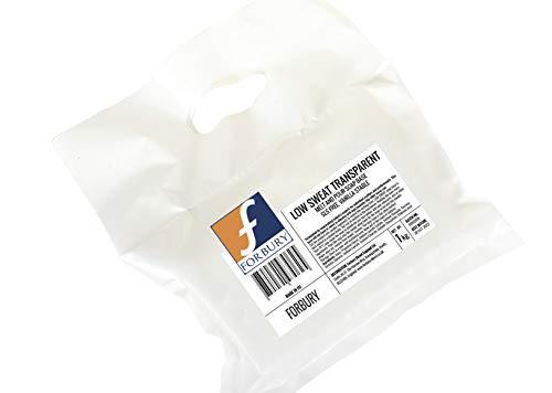 1kg Base Jabón de glicerina transparente, que «suda poco» Low Sweat soap base