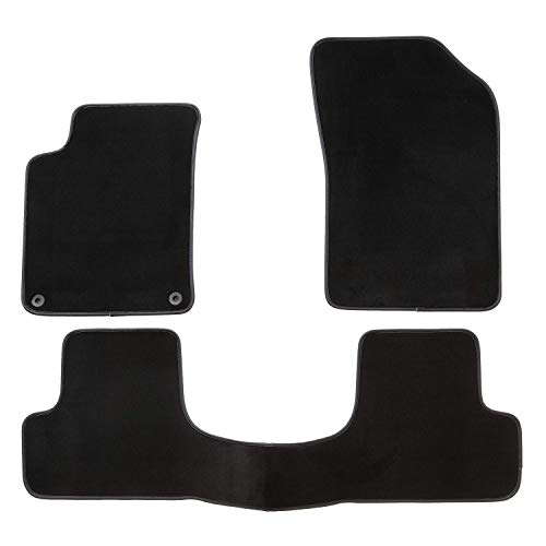Tapis de Voiture - sur Mesure pour C3 / DS3 (2009-2020) - 3 pièces - Tapis de Sol antidérapant pour Automobile - Moquette Premium