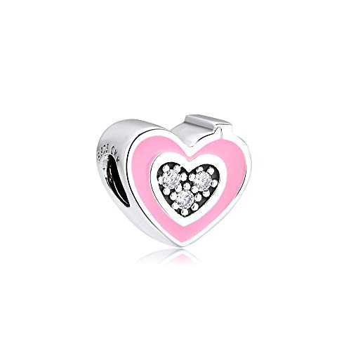 SOPMGJS DIY Passt Für Original Pandora Armbänder 925 Pink Emaille Kamera Herz Charms Armband Sterling Silber Metall Perlen Schmuck Making Argent Kralen
