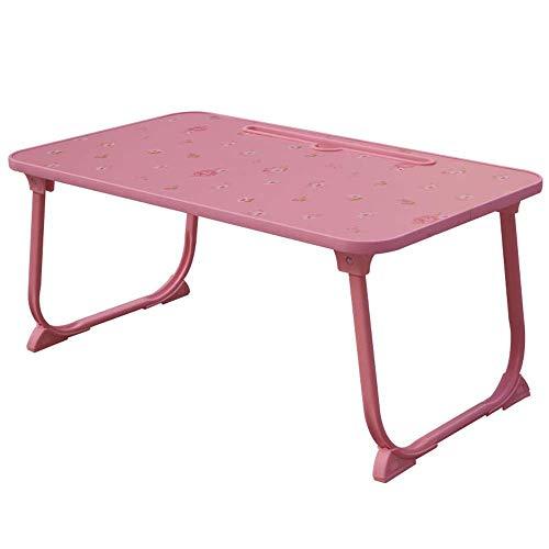 HYY-YY Zusammenklappbarer Laptop-Schreibtisch für Bett oder persönlichen Esstisch, Pink für Bett, Sofa, Boden (Farbe: Rosa, Größe: 58 x 34 cm)