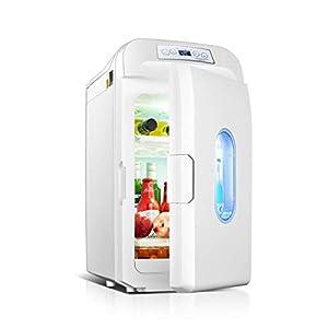 WUQIAO Petit Mini Réfrigérateur Et Plus Chaud, Bouteille 35L Refroidisseur De Vin Mini Bar Réfrigérateur Réglable Température Réglable Contrôle Compact Portable Silencieux