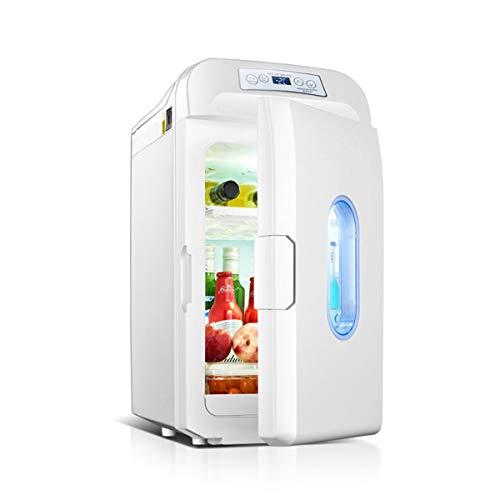 WUQIAO Pequeño Refrigerador Mini Refrigerador Y Más Cálido, 35L Botella De Vino Refrigerador Mini Barra Refrigerador Temperatura Ajustable Control Táctil Compacto Portátil Portable