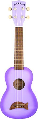 KALA Makala DOLPHINS MK-SD/PLBRST Soprano Ukulele, Purple Burst