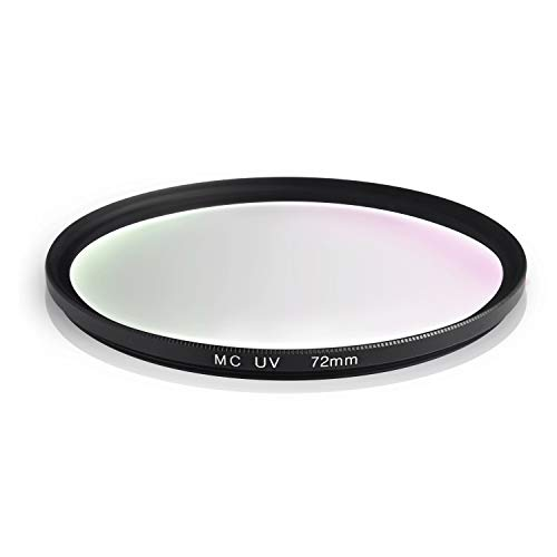 Ares Foto® MC UV Filter, Slim Schutzfilter mit Mehrschichtvergütung für Canon Sony Nikon Leica Fujifilm Panasonic Pentax Sigma Tamron Pentax (72mm)