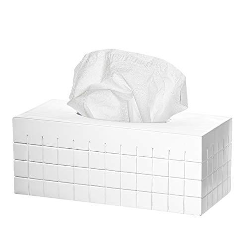 Creative Scents Tissue Box Cover Rectangular – Decorative Kitchen and Bathroom Tissue Holder, Modern Tissue Refill Dispenser, for Cute Elegant Bathroom Decor Accessories Polar Collection