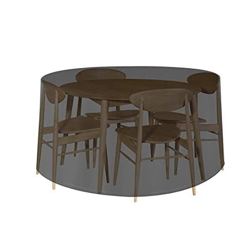 YSJJWDV Funda Muebles Jardin Cubierta Protectora Negra Impermeable para Muebles de jardín, Conjunto de sillas de Mesa, sofá Redondo, Patio, Anti-Polvo (Couleur : Black, Expédié De : États-UNIS)