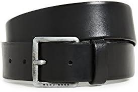 Hugo Boss mens Jeeko Italian Leather Belt Black US 32 product image