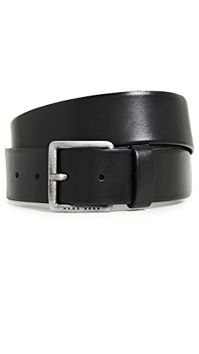 Boss Orange Men's Jeeko Italian Leather Belt, black, US 44