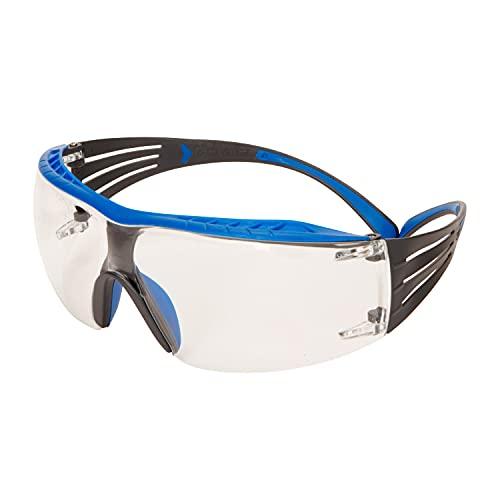 3M SecureFit™ 400X Gafas de seguridad, montura azul/gris, recubrimiento antiempañante Scotchgard™ (K&N), lentes transparentes, SF401XSGAF-BLU-EU