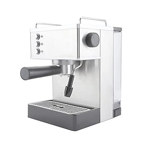 Ekspres do Kawy, Ekspres do Kawy 2,2 L ze Stali Nierdzewnej Ekspres do Kawy Ekspres do Kawy Ekspres do Kawy z Filtrami 2 i łyżką do Proszku, Wysokociśnieniowy, do Domowego Biura(Srebro)