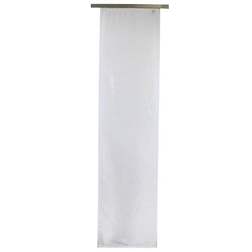 Gözze 66015-00-6045 - Tenda a pannello 'Dakar', permeabile alla luce, in tessuto decorativo effetto seta, 60 x 245 cm, compresi accessori per il montaggio, con velcro adesivo in dotazione, poliestere, ecotessuto 100, colore: bianco