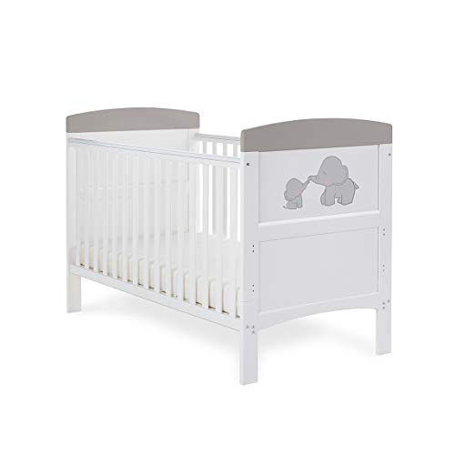 Obaby Grace Inspire Cot Bed - Me & Mini Me Elephants Grey