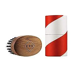 OAK BEARD BRUSH I Bartbürste (92 x 51 mm): Formt den Bart, macht ihn geschmeidig. Bartstyling für Männer mit Vollbart. Prämiertes Produktdesign aus Berlin.
