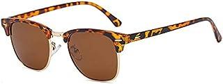 Sojos Clubmaster Sunglasses for Men - Brown Lens, SJ5018 SJ1043 SJ2019