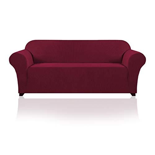 YuuHeeER 1 funda de sofá de alta elasticidad, elegante funda protectora de muebles de licra jacquard tela de espuma