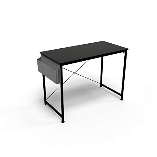 HOMIDEC Writing Computer Desk, Office Work Desk for student and worker, Laptop Table with Storage Bag and Headphone Hook,Modern Simple Style Desks for Bedroom, Home, Office(100x50x75cm)