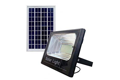 Faro LED SMD 60W watt pannello solare energia crepuscolare telecomando FOYU
