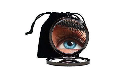 Reggioproducts Specchietto Portatile da Borsa per Make Up in Metallo con Specchi in Vero Vetro (titanio)