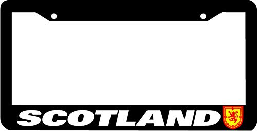 Scotland Black Frame Coat Of Arms Flag License Plate Frame Auto Car Novelty Accessories License Plate Art