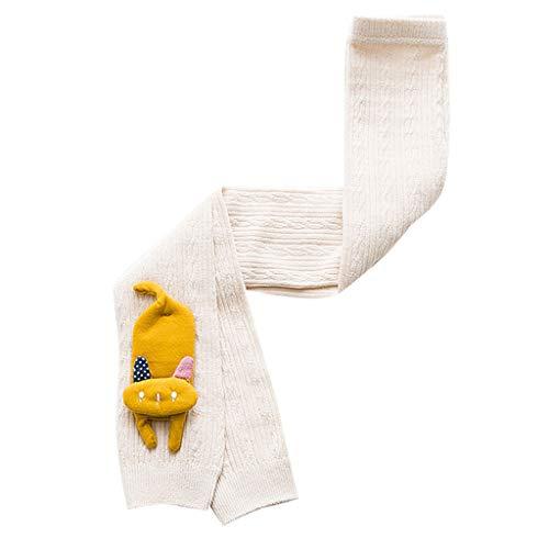 MAYOGO Medias Gato Bebés Niñas Leotardos para niña Recién Nacido Calcetines de Punto Dibujos Animados Legging Color Sólido Invierno Calcetines Bebe Chica 1-6 Años