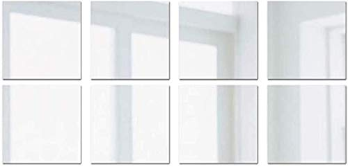 JYKFJ Autocollant Mural Miroir 16/32 pièces, Carreaux de PVC Auto-adhésifs carrés Amovibles 3D Stickers muraux Miroir Art Bricolage décor pour Salle de Bain de Bureau à Domicile