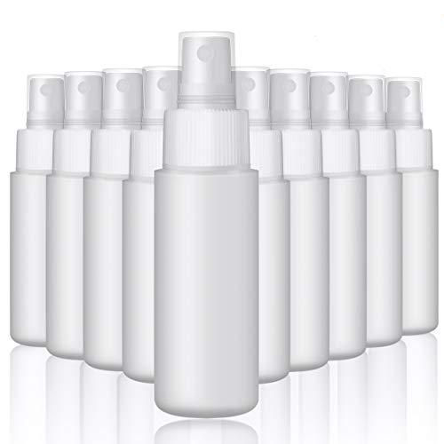 液体ボトル60ml スプレーボトル シリコン 容器 小分け 液体詰替用ボトル 小分け透明瓶 ミストコスメ用詰替え容器 HDPE材質 遮光性と耐塩酸性 除菌 10セット