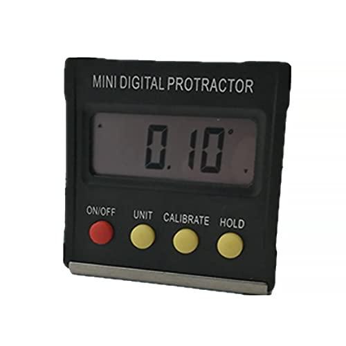 Persdico Mini pantalla digital Inclinómetro Nivel de ángulo Nivel de ángulo Caja de ángulo Transportador Medidor de ángulo Medidor de pendiente 360 grados