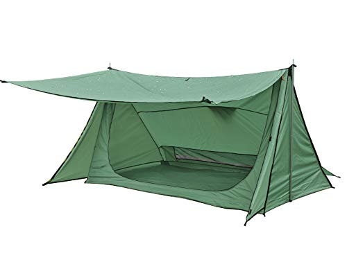 Anlik Pup Tent with 2 Poles,Bushcraft Shelter-Ultralight,Waterproof,Easy Setup,Camping Gear (Green)