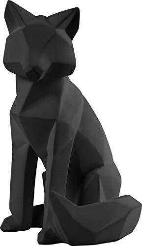 Present Time - Statue Renard Noir Large Origami