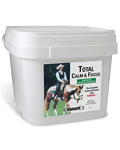 Ramard Total Calm and Focus Prime & Nutritional Powder For Race Horses | Contains Magnesium and Vitamin B for Race Events and Training | Aids in Reducing Nervousness and Hyperactiveness in Horses
