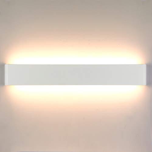 Lightess 24W 61CM Wandlampe LED Innen Modern Treppenhaus Beleuchtung Wandleuchte Weiss mit Up Down Licht IP44 aus reinem Aluminium für Wohnzimmer Schlafzimmer FlurTreppen usw, Warmweiss