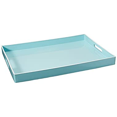 Accents by Jay Rectangular Tray with Handle, Teal