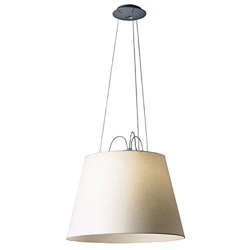 Artemide Tolomeo Mega Lampada a Sospensione, E27, 150 watts, Diffusore, Diametro 52 cm, Alluminio/Pergamena