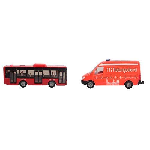 Siku 1021 - Linienbus, farblich sortiert, Farbe nicht wählbar &  0805 - Krankenwagen
