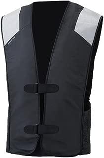 :MotoAir Airbag Motorcycle Airbag Vest Black (Large - X-Large)