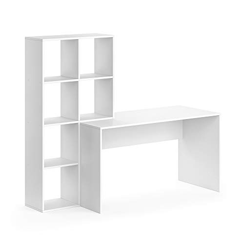 Vicco Schreibtisch + Regal Mara Raumteiler Computertisch Arbeitstisch Bürotisch (Weiß)