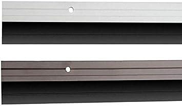 Aluminium Türbodendichtung In 2 Varianten Und 5 Farben Bürstendichtung Braun Baumarkt