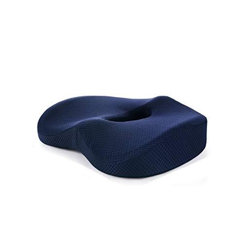 NOENO® Cojin lumbar-Cojín para silla de oficina memory foam-Cojín ortopédico para el coxis-Cojín ergonómico para coche,Cojín para hemorroides, Antiescaras,Silla de ruedas,Ciática,Próstata,Postural