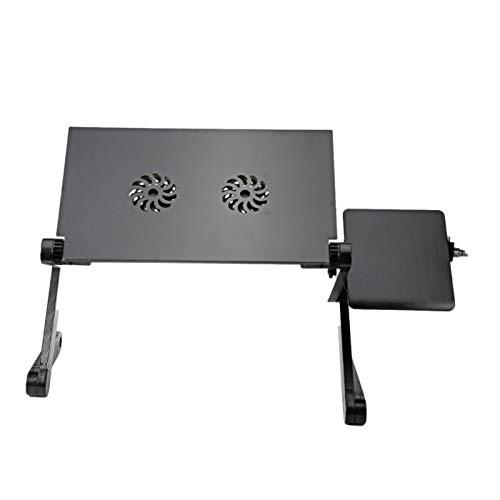 Belleashy - Alfombrilla de refrigeración USB para ordenador portátil, plegable, ajustable, 2 ventiladores con tarjeta de ratón para comer un picnic de cocina