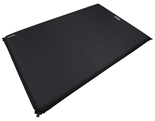 Andes Explora Black 10cm Double Self Inflating Camping Mat Mattress Camp Bed