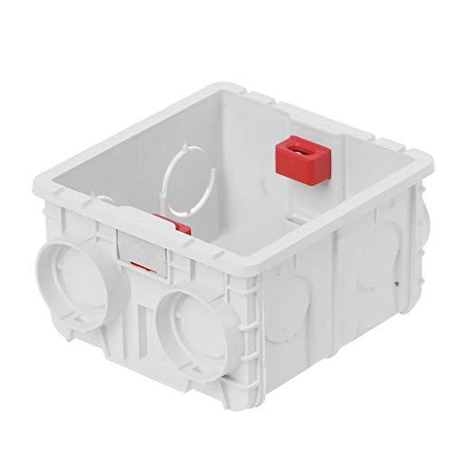 MYBOON Casete de Montaje en Pared de Caja de Conexiones de PVC Tipo 86 Soporte de conexión de Base de Enchufe de Interruptor
